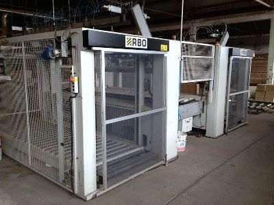 Squaring edge banding complete line BIESSE RBO